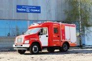 Первая пожарная автоцистерна на базе ГАЗон NEXT на выставке