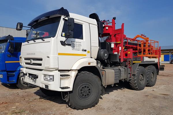 Новый КамАЗ 43118 с бурильной установкой Kanglim KDC 5600