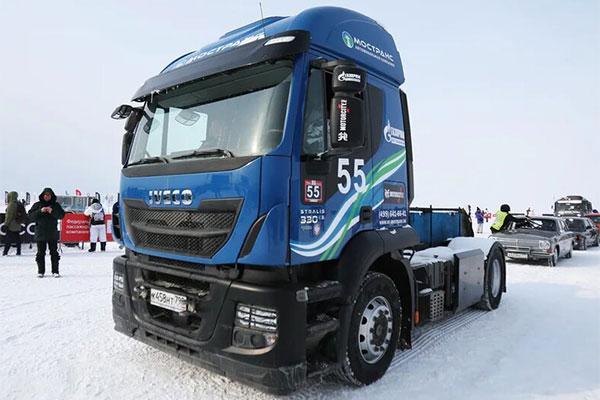 Тягач IVECO Stralis NP 460 установил рекорд скорости в экстремальных условиях Сибири