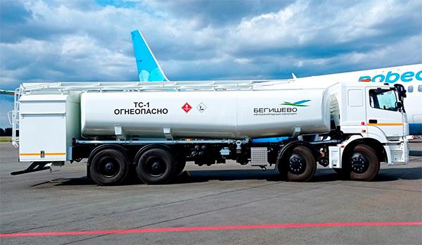 Топливозаправщик на шасси КАМАЗ для аэропорта «Бегишево»