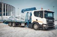 Эвакуатор на шасси Scania для транспортировки спецтехники
