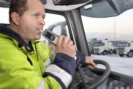 Система Alcolock от Volvo Trucks снизит количество нетрезвых водителей за рулем в Европе