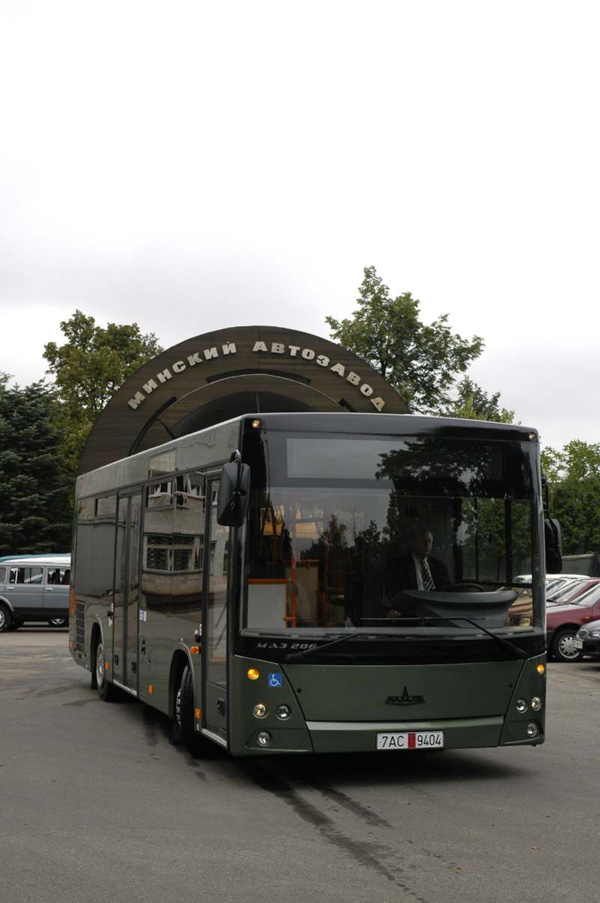 Новая тройка автобусов МАЗ на выставке «ТРАНСЭКСПО-2008» в Польше