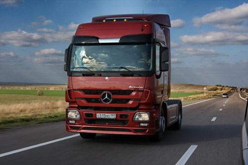 Завершение российского тест-драйва нового Mercedes-Benz Actros по маршруту Москва-Анапа