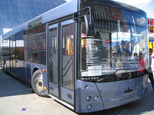 Автобусы МаЗ на дорогах Баку