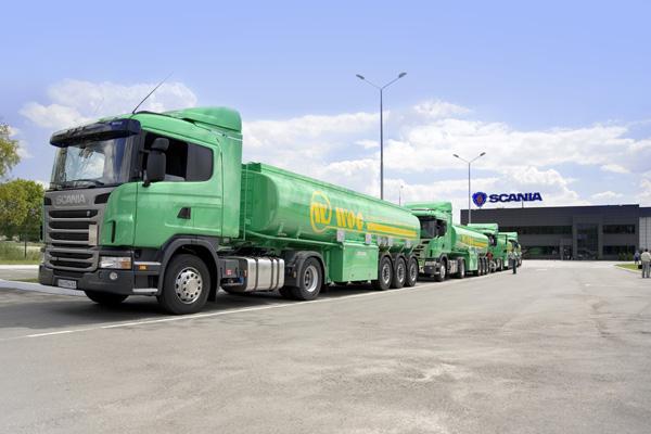 Автомобили Scania для сети автозаправочных станций WOG на Украине