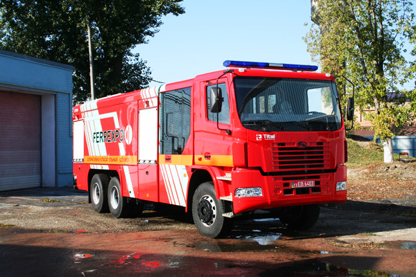 «АвтоКрАЗ» для Еристовского  ГОКа создал новый пожарный автомобиль  КрАЗ Н23.2 (АЦ-13-70)