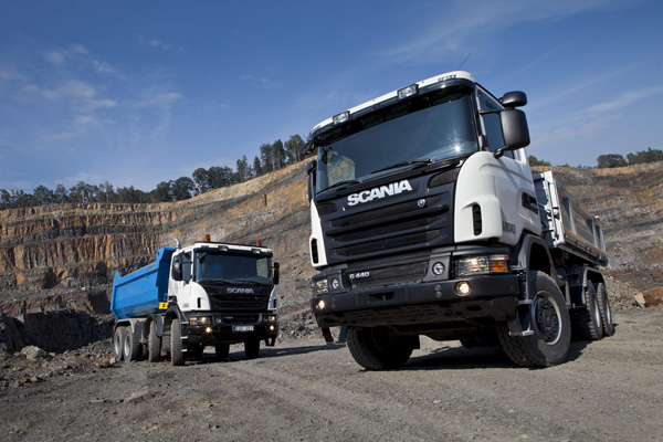 Новые грузовики Scania Off-road