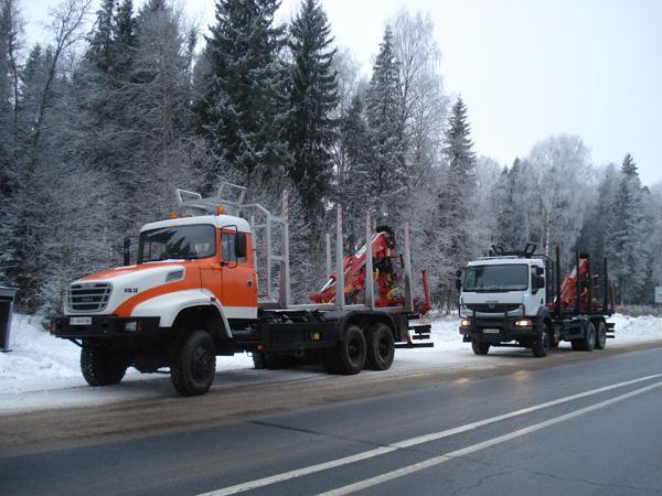 Новые автомобили-сортиментовозы КрАЗ М19.2R и КрАЗ М16.1Х дебютировали в России