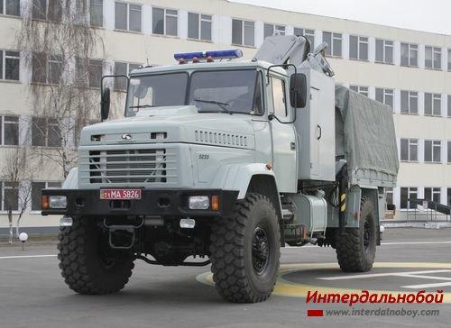 КрАЗ обеспечивает МЧС Украины специальной техникой
