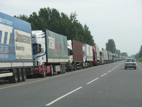 1,5 тыс. грузовиков скопилось на белорусско-литовской границе