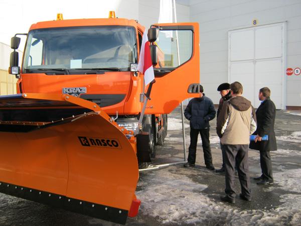 Кременчугский  «Дорожник» КрАЗ с кабиной Renault представлен на «ConMac Ukraine 2012»