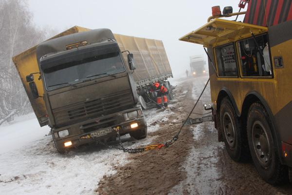 Эвакуационная пресс-экспедиция Volvo Trucks и компании «Спецбуксир» завершена