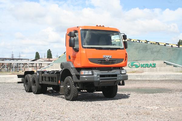 Полноприводный автомобиль-шасси КрАЗ Н22.2RX завершил создание пятого поколение кременчугских грузовиков
