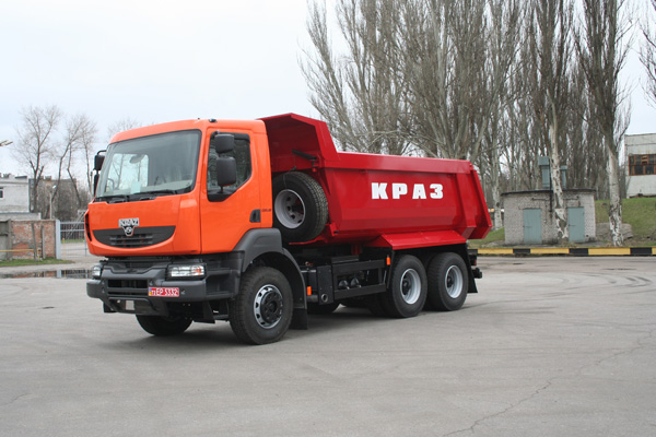 Самосвалы КрАЗ нового поколения  будут представлены  на «Autotrans 2012»