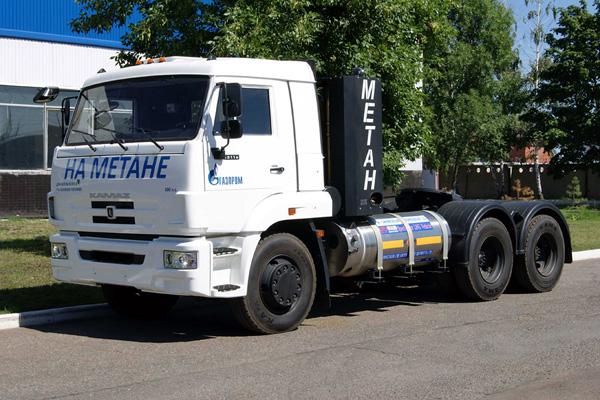 Новинка - седельный тягач КАМАЗ-65116-34 с криобаком на сжиженном природном газе