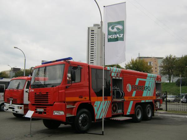 Пожарная автоцистерна КрАЗ Н23.2 (АЦ-13-70)  - отечественный продукт европейского уровня