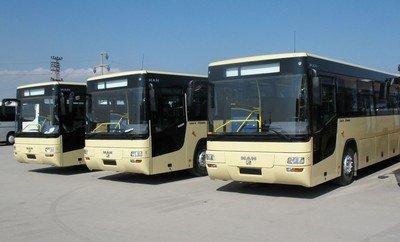 10 новых автобусов MAN отправляются в Краснодарский край