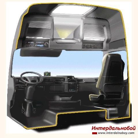 Новый интерьер кабины от Volvo!