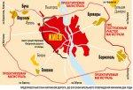 Схема новой окружной дороги Киева
